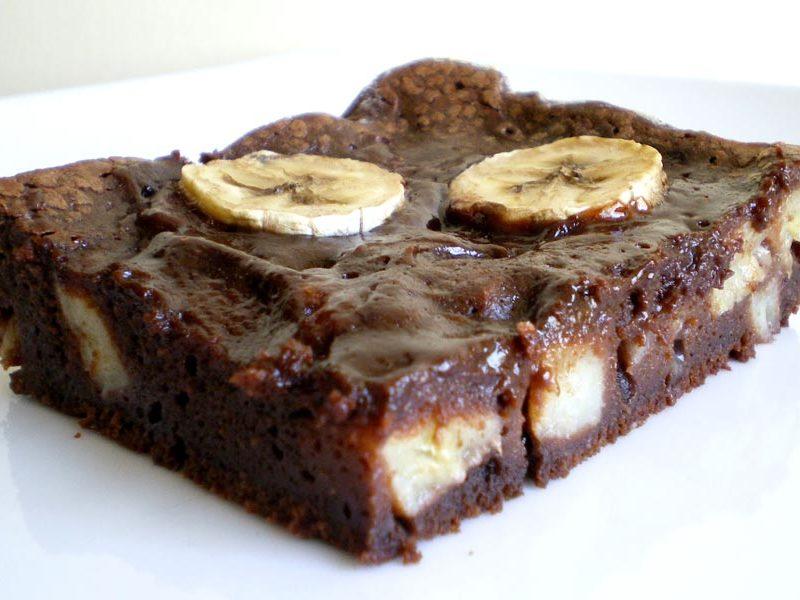 fondant au chocolat a la banane