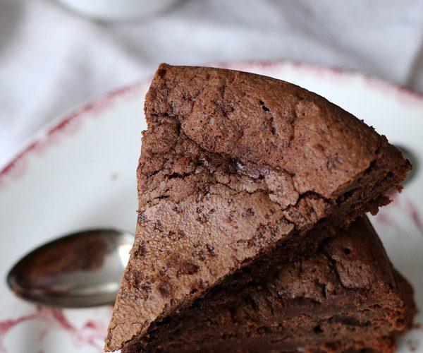 fondant au chocolat a la farine d'epeautre