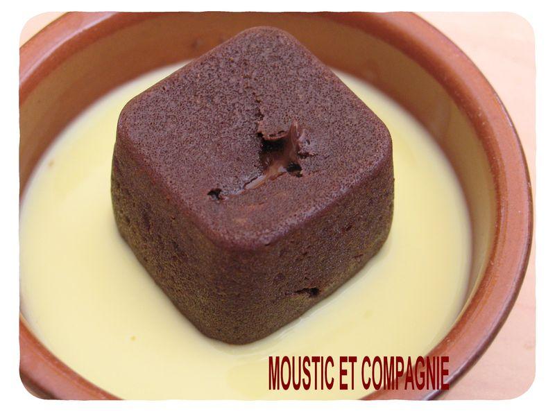 fondant au chocolat a la vapeur