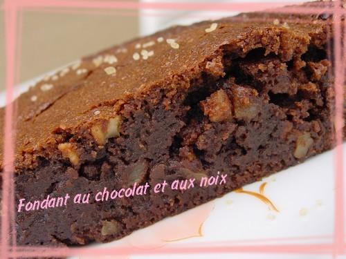 fondant au chocolat aux noix