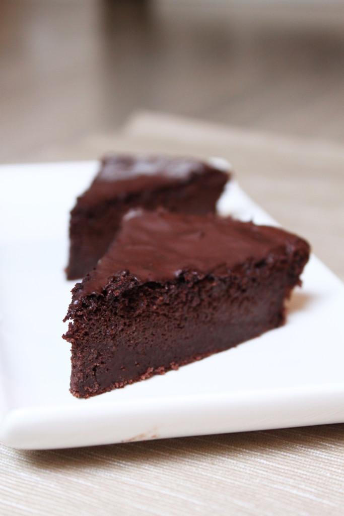 fondant au chocolat courgette ww