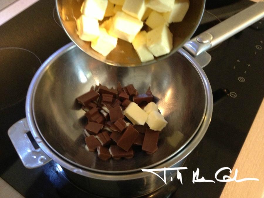 fondant au chocolat kinder surprise