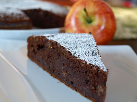 fondant au chocolat pomme