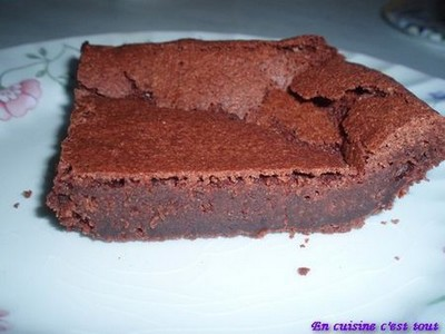 fondant au chocolat pour 8 pers
