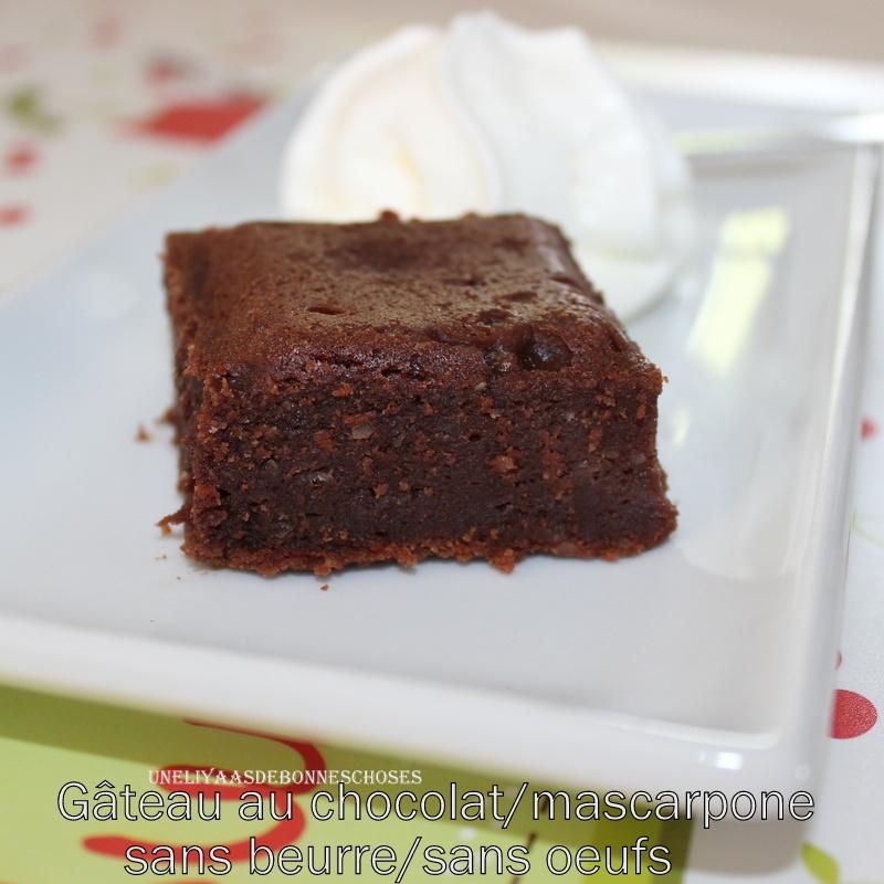 gateau au chocolat 1 oeuf sans lait