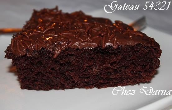 gateau au chocolat 54321