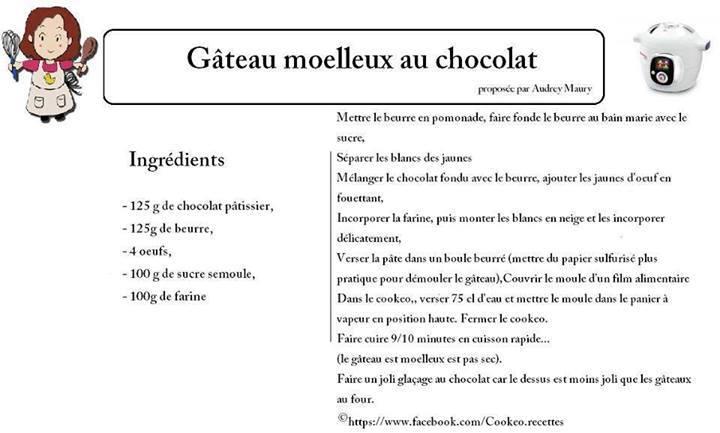 gateau au chocolat au cookeo