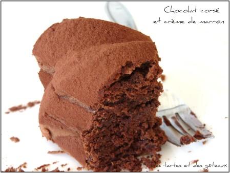 gateau au chocolat comme un nuage