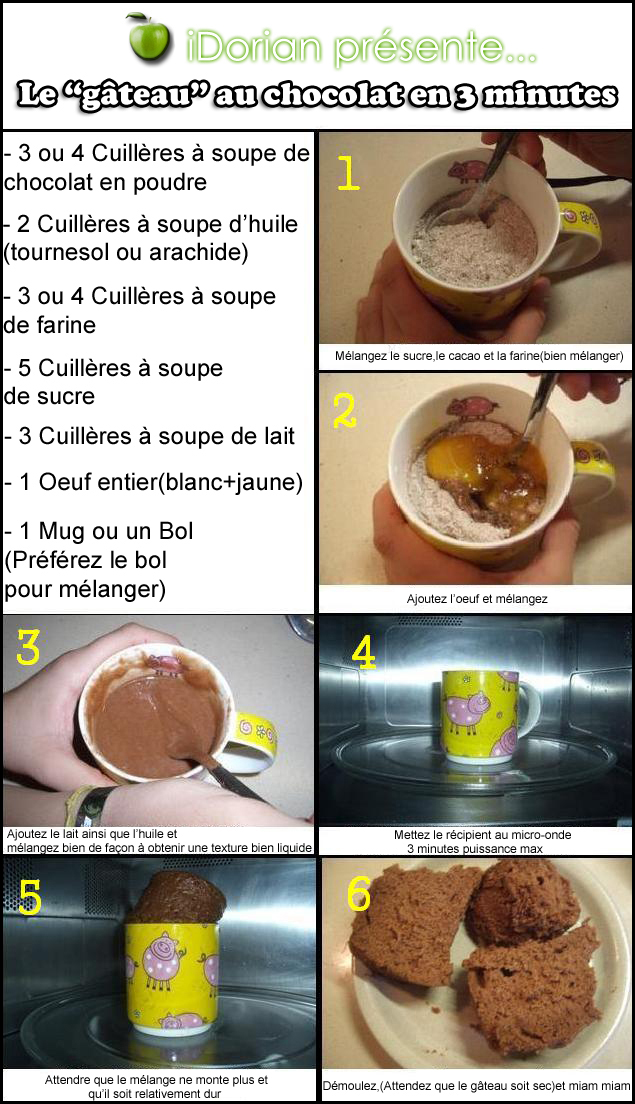 gateau au chocolat dans un bol