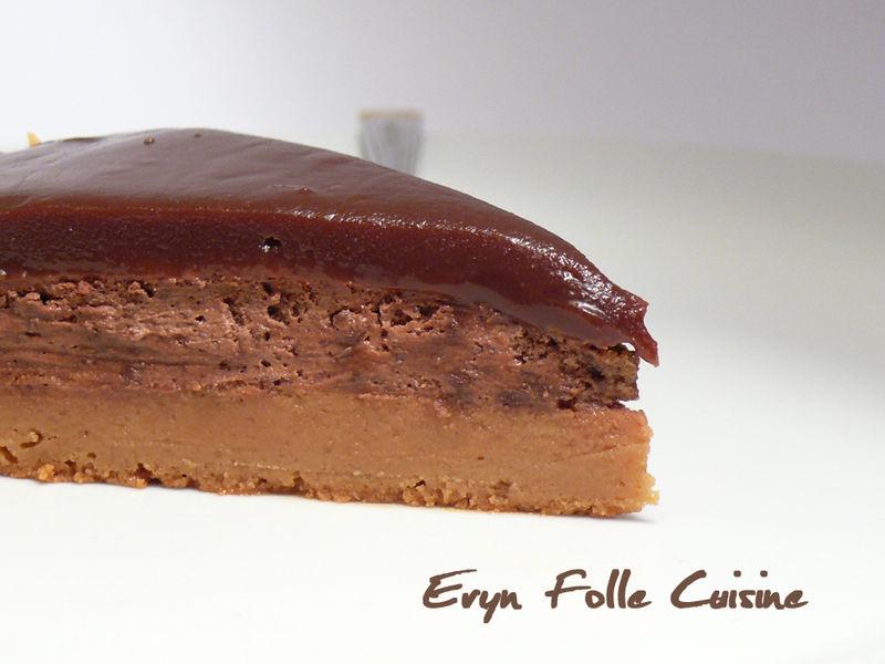 gateau au chocolat et caramel