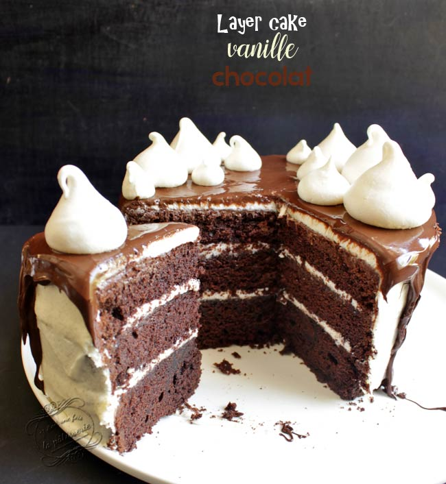 gateau au chocolat et creme chantilly