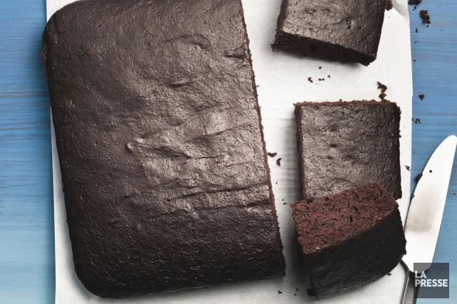 gateau au chocolat un bol
