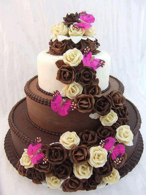 gateau au chocolat wedding cake
