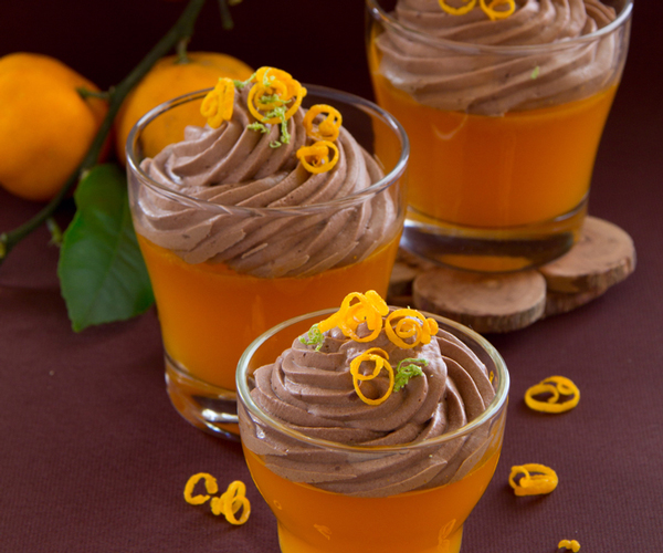 mousse au chocolat a l'orange