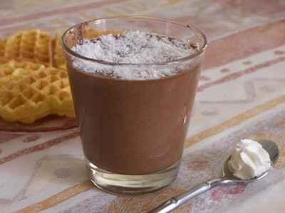 mousse au chocolat a la creme de coco