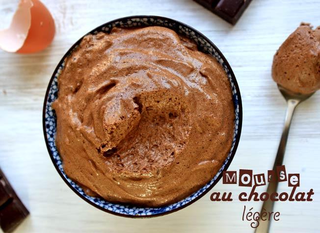 mousse au chocolat avec un yaourt