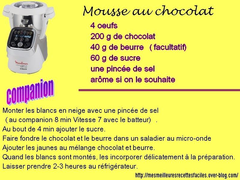 mousse au chocolat companion 8 personnes