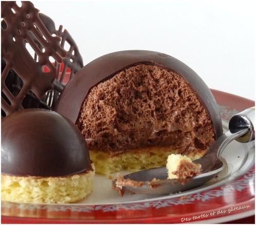 mousse au chocolat dans un moule silicone