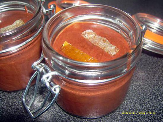 mousse au chocolat ecorce d'orange