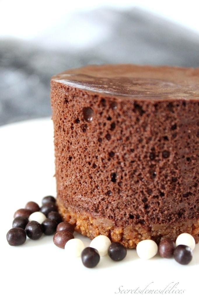 mousse au chocolat et speculoos