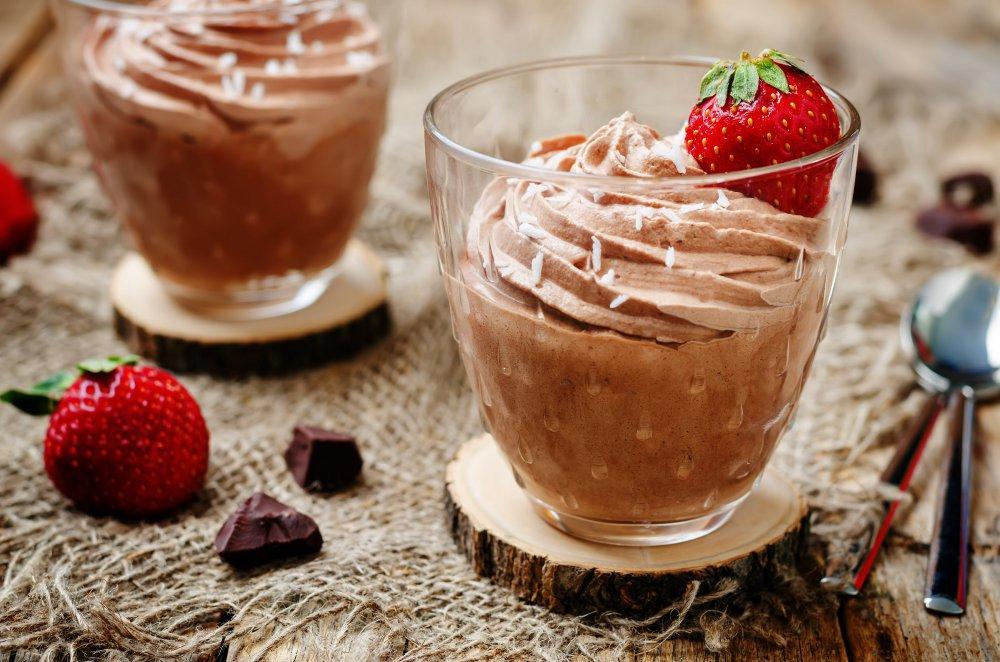 mousse au chocolat huile de coco