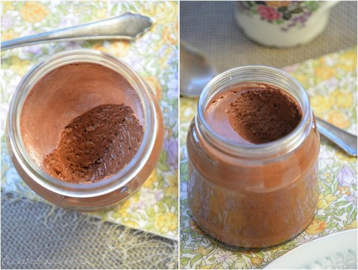 mousse au chocolat jus de pois chiche