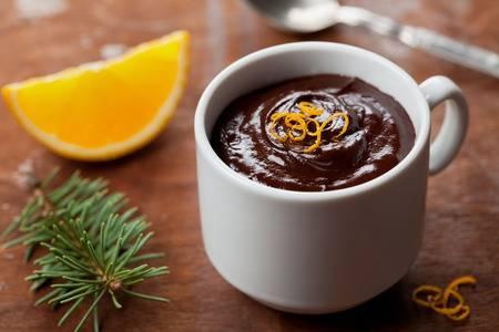 mousse au chocolat qui tranche