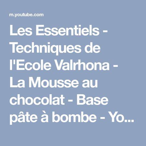 mousse au chocolat valrhona