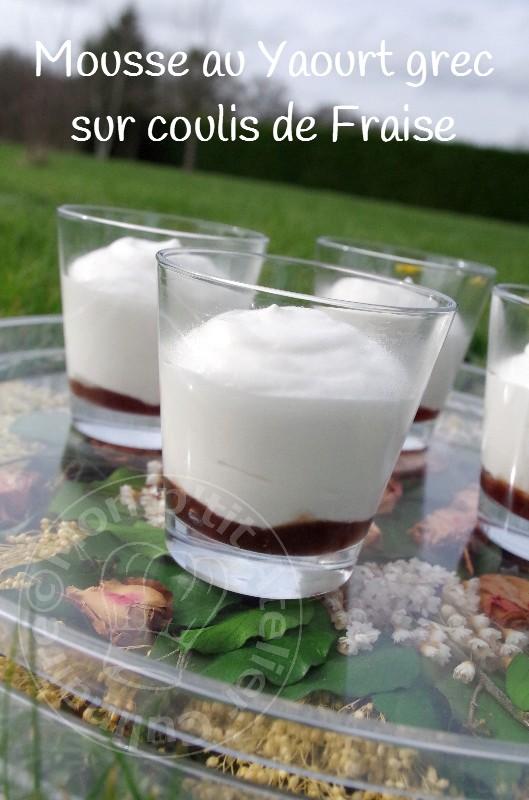 mousse au chocolat yaourt grecque